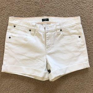 J. Crew White Denim Cuffed Short